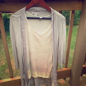 Lightweight cardigan and tank top